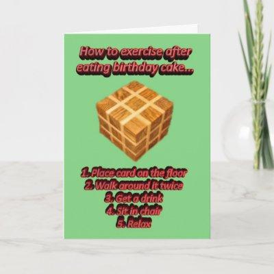 Happy Birthday Joke Birthday wishes funny Greeting Cards by GOLDENJACKAL