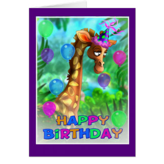 Happy Birthday Jungle style 005 Card