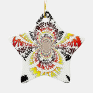 Happy Birthday just Hakuna Matata Gifts Design Art Ceramic Ornament