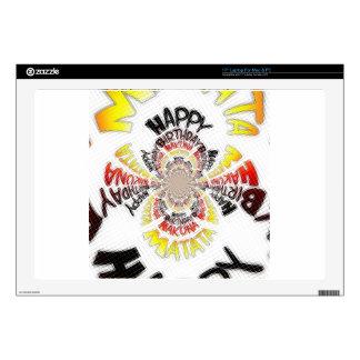 "Happy Birthday just Hakuna Matata Gifts Design Art Decals For 17"" Laptops"