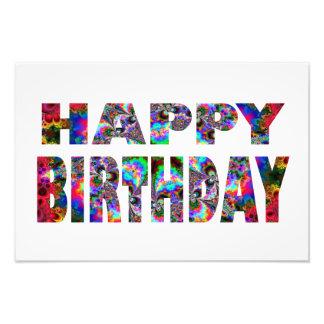 Happy Birthday Kaleidoscope Photo Art