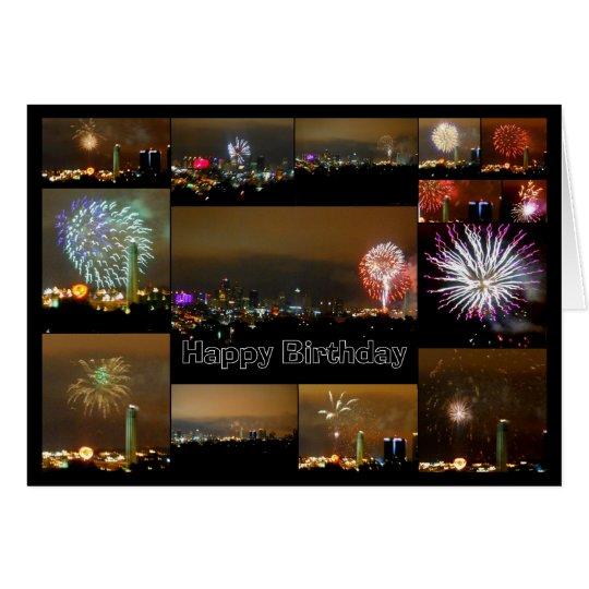Happy Birthday! Kansas City Fireworks Card