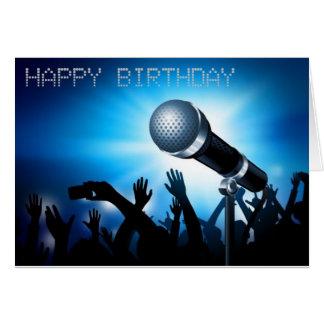 Happy Birthday Karaoke Style Card