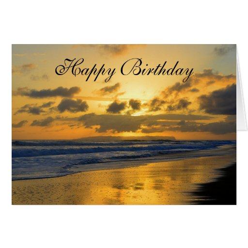Birthday Card Sayings Beach : Happy birthday kauai beach sunset greeting card zazzle
