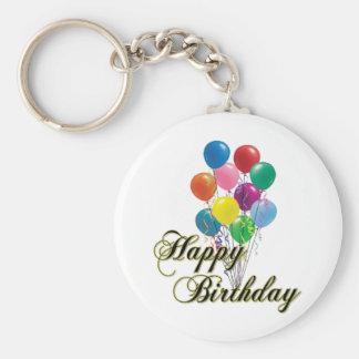 Happy Birthday Keychain- D4 Basic Round Button Keychain