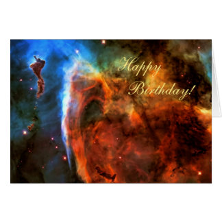 Happy Birthday - Keyhole Nebula, Digitus Impudicus Greeting Card