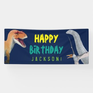 Happy Birthday Kids Dinosaur Birthday Banner