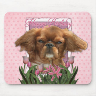 Happy Birthday - King Charles Cavalier - Ruby Mouse Pad