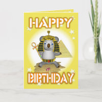 Happy Birthday King Tut Greeting Card