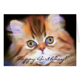 Happy Birthday Kitten greeting card