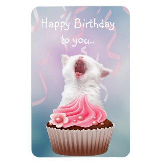 Happy Birthday kitten Flexible Magnet