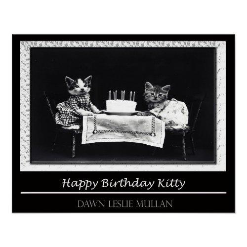 Happy Birthday Kitty Poster