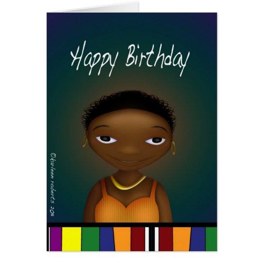 Happy Birthday Lady Card