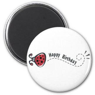 Happy Birthday Ladybug 2 Inch Round Magnet