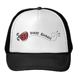 Happy Birthday Ladybug Trucker Hat