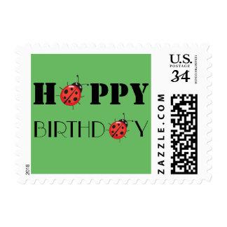 Happy Birthday Ladybug Postage