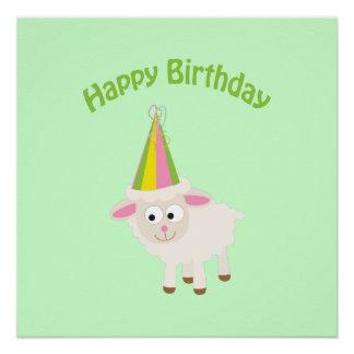 Happy birthday Lamb Poster