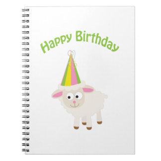 Happy birthday Lamb Spiral Notebook