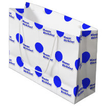 Happy Birthday Large Blue Balloons Gift Bag