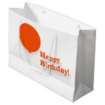 Happy Birthday Large Red Balloon Gift Bag