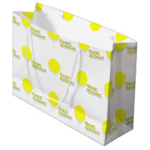 Happy Birthday Large Yellow Balloons Gift Bag