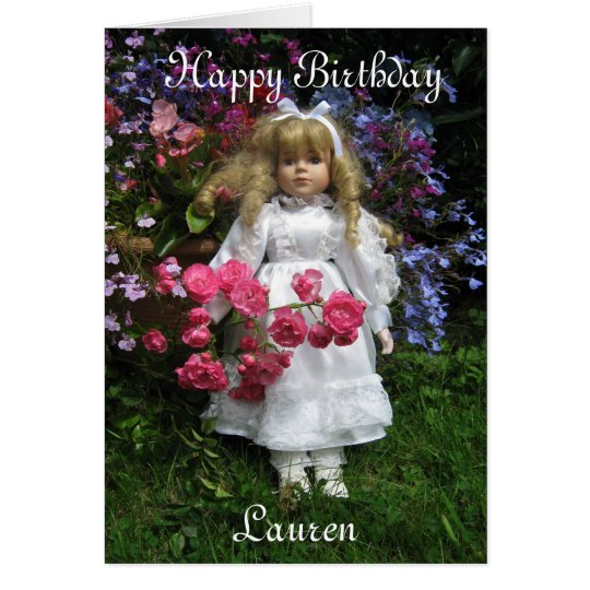 Happy Birthday Lauren Card