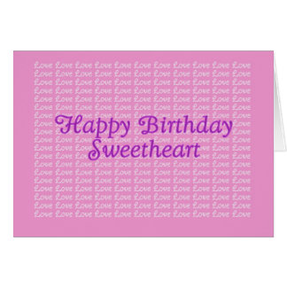 Happy Birthday Lavender Endless Love Card