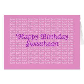 Happy Birthday Lavender Endless Love Card
