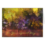 Happy Birthday Leaves and Petals Greeting Card