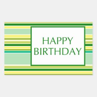 happy birthday (lemonLime) Rectangular Sticker