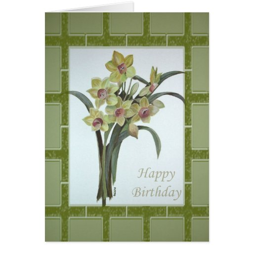 Happy Birthday - Lent Lily Greeting Card