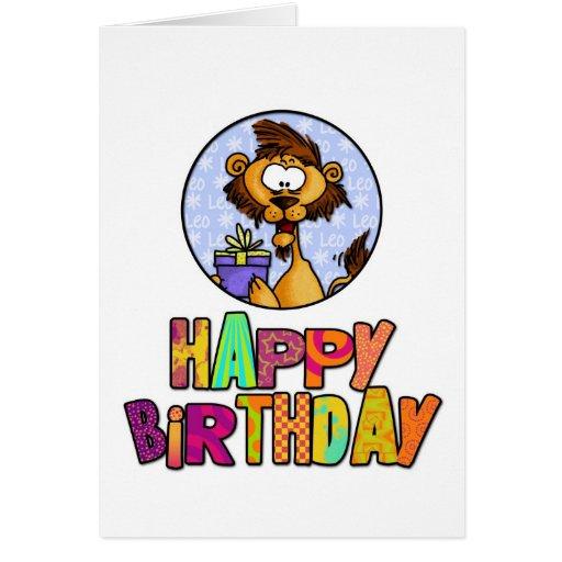 Happy Birthday - Leo Card