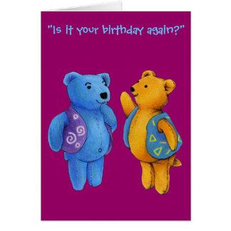 Happy Birthday - Liam and Quinn Teddy Bears Greeting Card