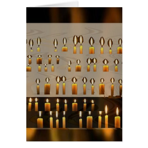 Happy Birthday - Lighted Candle Decorations Greeting Card