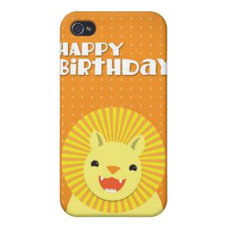 Happy Birthday LION iPhone 4 Covers