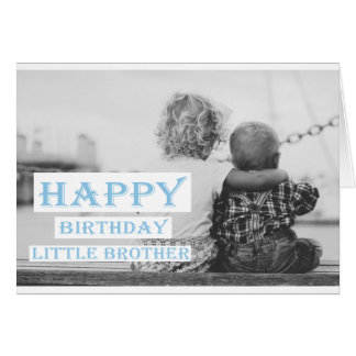 Happy Birthday Little Brother Card