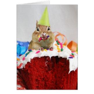 Happy Birthday Little Chipmunk Card