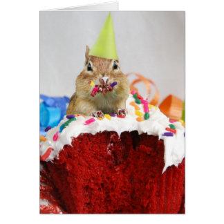 Happy Birthday Little Chipmunk Greeting Card