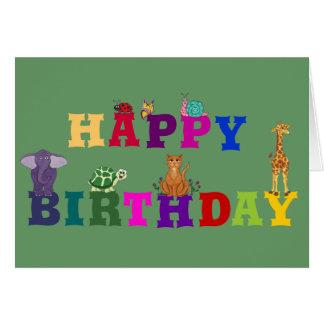 Happy Birthday Little Critters - Birthday Card