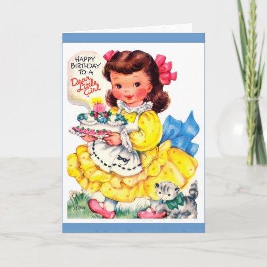 happy birthday little girl card zazzle com