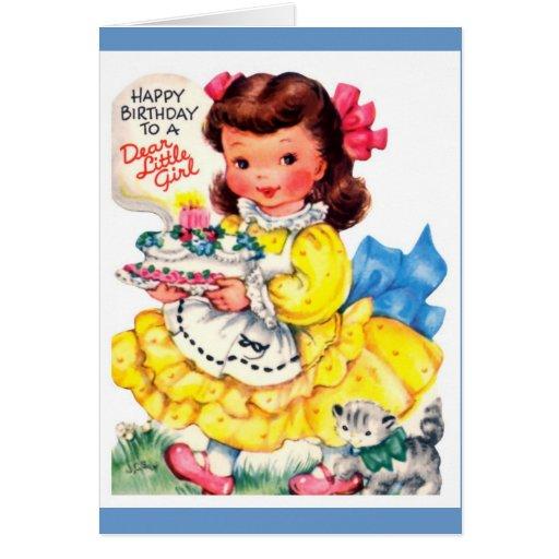 Happy Birthday Wishes Little Girl ~ Happy birthday little girl greeting card zazzle