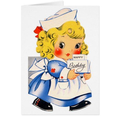 Happy Birthday - Little Girl Greeting Card