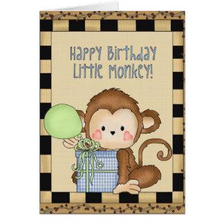 Happy Birthday Little Monkey greeting card