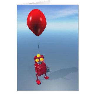 Happy Birthday Little Red Robot Card