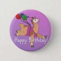 Happy Birthday Llama! Button
