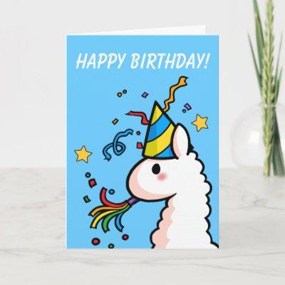 Happy Birthday Llama Card