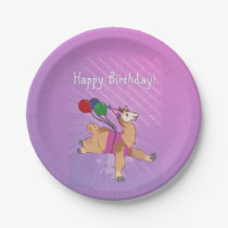 Happy Birthday Llama! Paper Plate