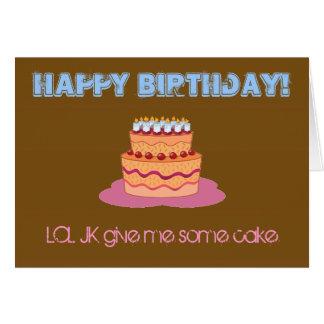 Happy Birthday...LOL JK Card