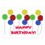 Happy Birthday lollipops Post Card