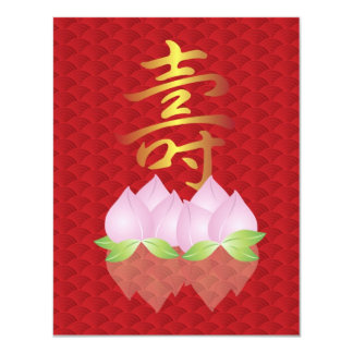 Happy Birthday Longevity Symbol Invitation Card